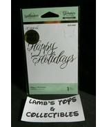 Spellbinders Glimmer Hot Foil GLP-068 Foil Transfer Letterpress Happy Holidays - $13.85