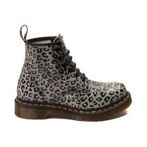 Doc Martens Grey & Black Leopard 6-Eye AirWair Leather Hvy Boots Wms 6 NWOT - $79.99