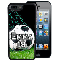 PERSONALIZED RUBBER CASE FOR iPHONE 6 6s 7 8 X Plus SOCCER PLAYER - $9.98
