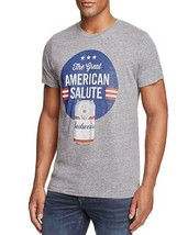 New Junk Food Gray American Salute Budweiser Beer T-SHIRT Size L - $13.85