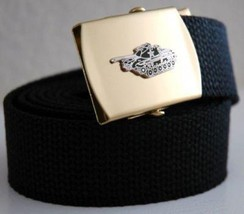 United Stated Army Tank Black Belt & Buckle - $17.81