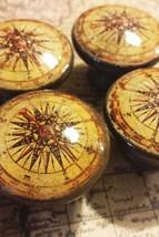"Handmade Compass Birch Knob Drawer Pulls, Set of 6 Old World Nautical 1.5"" Knobs - $35.64"