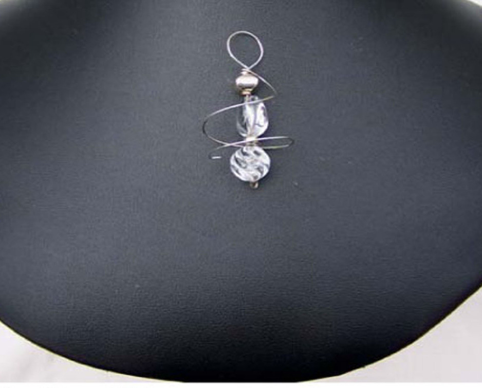 Jewelry By Two Gems (Wp32) Sterling Silver Herkimer Swirl Pendant