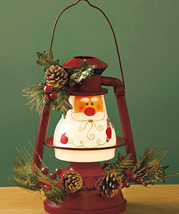 Seasonal Lighted Santa Lantern - £14.36 GBP