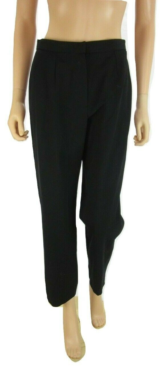 RALPH LAUREN Black Wool Blend Wear to Work Dress Pants 6 Petite image 4