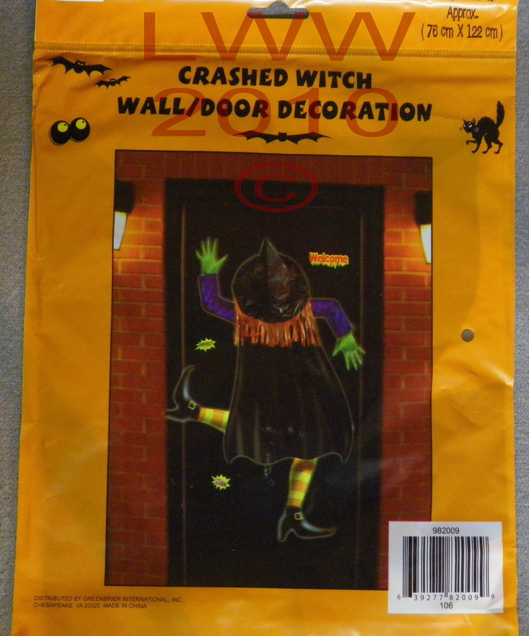 New Crashed Witch Wall or Door Halloween Decoartion