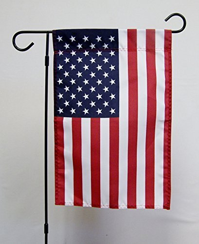 "USA Old Glory 12""x 18"" Sleeved Polyester Double Sided Garden Flag With Pole Kit"