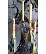 Samhain Halloween Slate Blue tan Broom Besom ornaments - $8.99