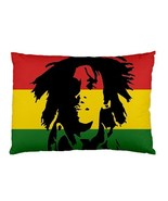 "Bob Marley Rasta Flag Pillow Case 30""X20"" Pillowcase  - $19.00"