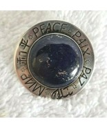 GFMW Sterling Brooch Pin PEACE PAIX PAZ With Stone Center GREAT FALLS ME... - $35.00