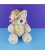 "Dakin Limited Edition 1988 Rosemarie Jointed Teddy Bear Plush 9"" Straw H... - $30.69"