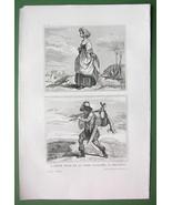 HOLY LAND Jewish Woman Hunter - Antique Print Engraving - $10.80