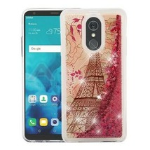 Eiffel Tower Rose Gold Stars Glitter Hybrid Cover for LG Stylo 4 Plus/St... - $11.07