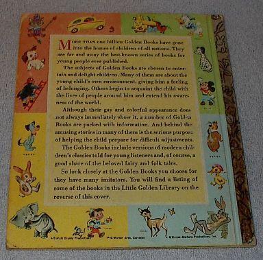 Walt Disney's Pinocchio Old Vintage 1968 Little Golden Book D100