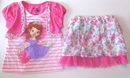 Disney Princess Sofia the First  Girls  2pc  Outfit Sizes 6 and 6X NWT - $24.99