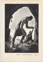 "Rockwell Kent ""Guiscardo prepared a rope"", The Decameron. Vintage 1949 p... - $9.00"