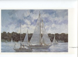 Ray Ellis, Dropping the Jib. Sailing, NE Coast, Massachusetts. 1986 prin... - $16.95