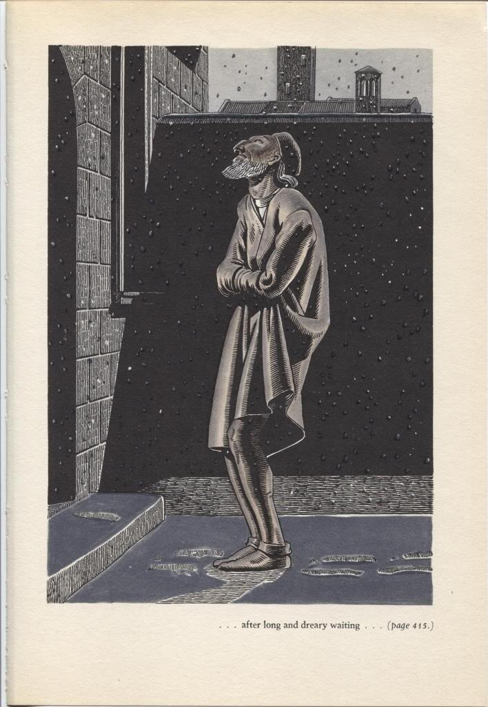 """Rockwell Kent """"...long and dreary waiting"""", The Decameron. Vintage 1949 print."""