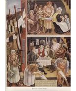 George Biddle. Tenement, Dept of Justice mural. Vintage 1940 print. 8 1/... - $21.56