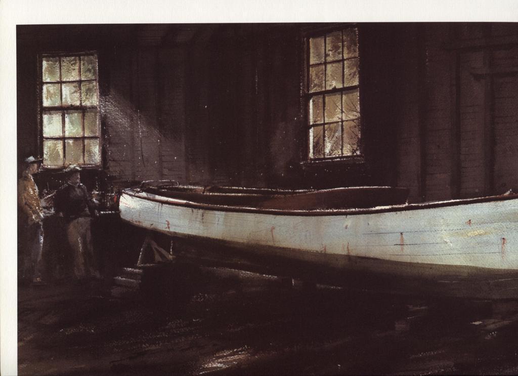 Ray Ellis, Yard Talk. Northeast Coast, Massachusetts. 1986 print 8.5X14