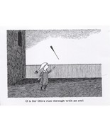 "Edward Gorey. ""O is for Olive"". ""The Gashlycrumb Tinies"" Large postcard ... - $6.81"