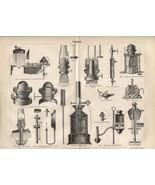 """Lamps (""""Lampen""""). Antique German 1888 print. - $14.00"""