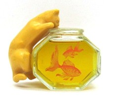 Avon Curious KITTY Cat with Fishbowl Bottle with Here's My Heart Cologne... - $18.99