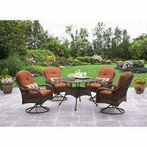 Home Garden Yard Patio Dining Set 5 Piece Outdoor Furniture Glass Table ... - $663.29