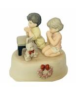 Pretty as Picture Kim Anderson figurine vtg Brahms lullaby music box pra... - $48.33