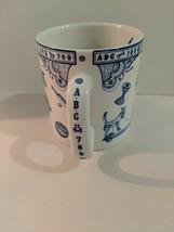 Edwardian Childhood By Spode England Blue Alphabet Toys Design Mug - $34.64