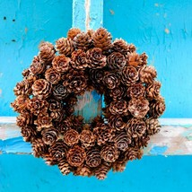 "D9"" Pinecone Wreath Handcraft Home Christmas Decoration Wreaths Pendant ... - $17.09"