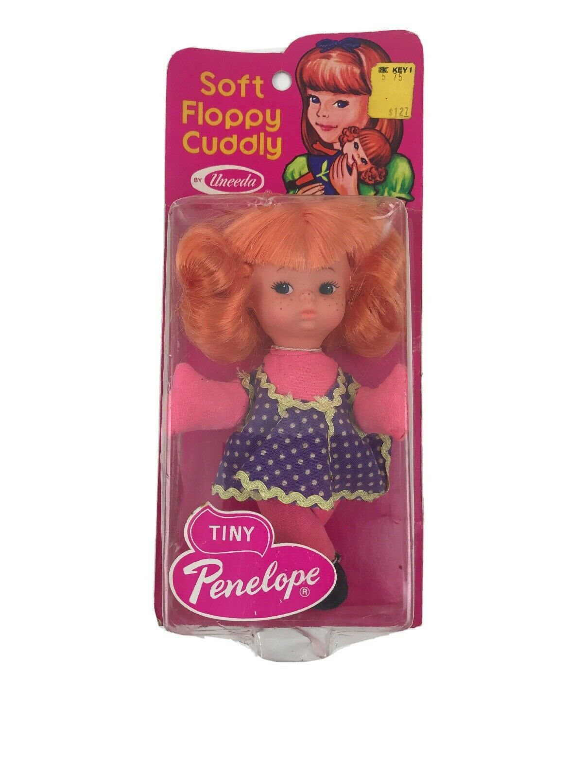 """Vintage 1974 Tiny Penelope Fashion Doll Mod Groovy Uneeda Made In Hong Kong 6"""" - $23.20"""
