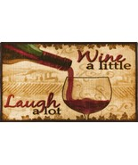 LIVING CLASSICS WINE A LITTLE KITCHEN RUG NON SKID BACK  - $15.83