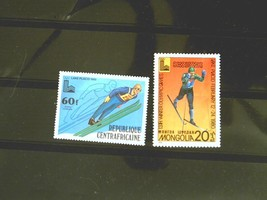 Mongolia Set of 2 Stamps MINT -Olympic Games - MNH Free Shipping # S3001 - $1.68