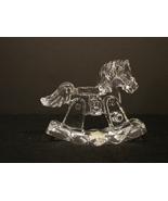 Lead Crystal JONAL Rocking Horse w Original Label West. Germany - $6.29