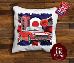 MG Midget Cushion Cover, MG Midget, Union Jack, Mod, Target, Poppy, Cushion - $9.01+