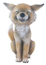 YTC Brown and White Smiling Coyote TeeHee Decorative Figurine Statue - $15.83