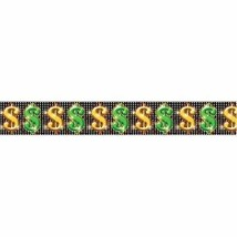 Casino Party Dollar Signs Border Roll 50ft - $18.76