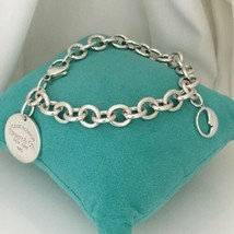 """Please Return to Tiffany & Co Round Tag Man in the Moon Charm Bracelet 8.5"""" - $249.99"""