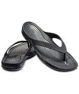 Crocs Swiftwater Black Flip Flops for Women Sz 7 M - $28.00