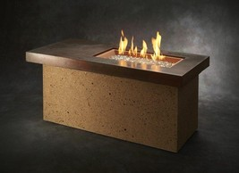 Outdoor Artisan Linear Gas Fire Pit Table - $2,041.55+