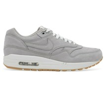 Nike Air Max 1 LTR Premium Medium Grey Gum Leather 705282-005 Mens Size 10.5 - $119.95