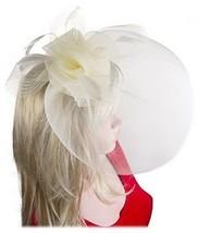 Flower Fascinator Feather Mesh Gauze Cocktail Party Headwear Hair Clip I... - €33,08 EUR