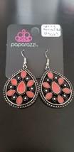 Paparazzi Earrings (New) Spring Arrival Red Earrings #5029 - $7.61
