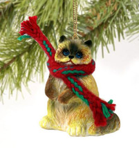 RAGDOLL CAT CHRISTMAS ORNAMENT HOLIDAY Figurine kitten gift scarf - $9.50
