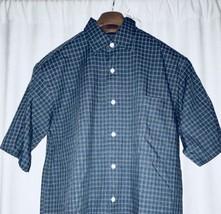 NWT IZOD Mens Button Down Shirt Short Sleeve Casual Dress Medium Cotton - $15.99