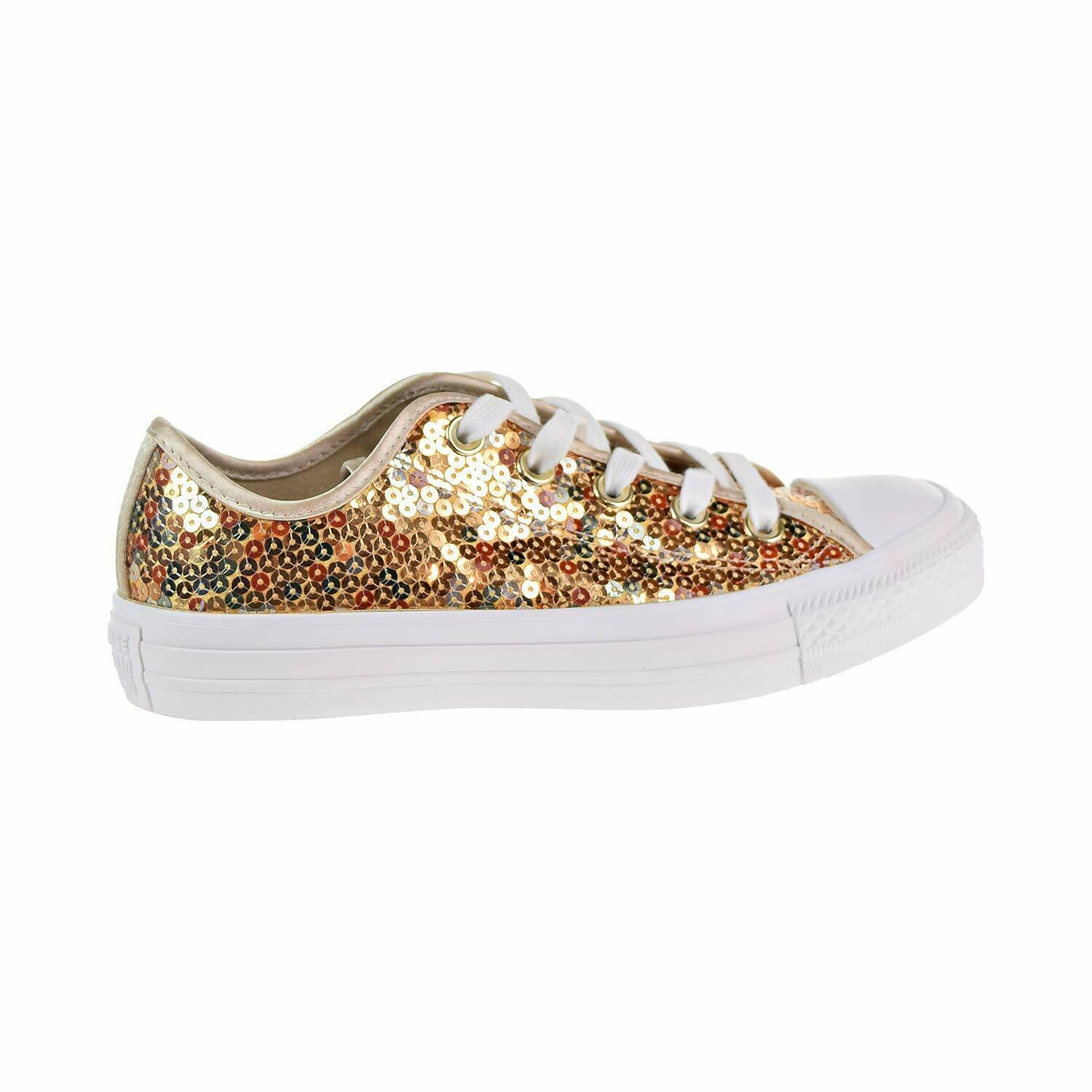 Primary image for CONVERSE WOMEN'S CHUCK TAYLOR ALL STAR OX SHOES LIGHT GOLD/WHITE 6 M US 562446C