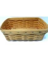 "Longaberger Handwoven Basket 12.5"" x 7"" x 4.75"" ...see Photos 2000 - $19.33"