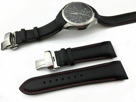 Watch Band For Tissot COUTURIER T035 Genuine Leather Wristwatch Strap 22... - $20.51+