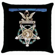 US Army Medal Of Honor Black Cushion cover Throw Pillow Case - $15.00